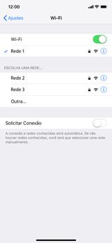 Apple iPhone XR - Wi-Fi - Como configurar uma rede wi fi - Etapa 7