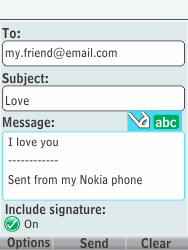 Nokia 301-1 - E-mail - Sending emails - Step 12