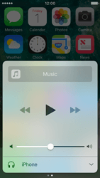 Apple iPhone SE - iOS 10 - iOS features - Control Centre - Step 9