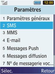 Samsung C3350 Xcover 2 - SMS - configuration manuelle - Étape 5
