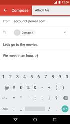 Motorola Moto G 3rd Gen. (2015) - Email - Sending an email message - Step 13