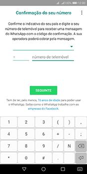 Huawei Y6 (2018) - Aplicações - Como configurar o WhatsApp -  9
