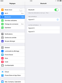 Apple iPad Air iOS 8 - Bluetooth - connexion Bluetooth - Étape 9