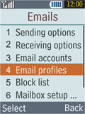 Samsung B2100 Xplorer - E-mail - Manual configuration - Step 6