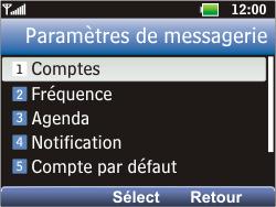 LG C360 Golf - E-mail - Configuration manuelle - Étape 11