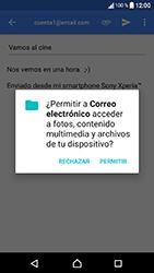 Sony Xperia XA1 - E-mail - Escribir y enviar un correo electrónico - Paso 11