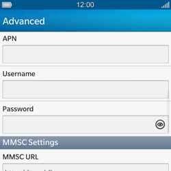 BlackBerry Q10 - MMS - Manual configuration - Step 9