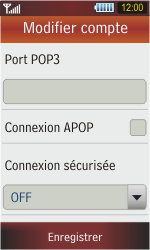 Samsung S5230 Star - E-mail - Configuration manuelle - Étape 11