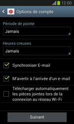 Samsung I8260 Galaxy Core - E-mail - Configuration manuelle - Étape 17