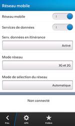 BlackBerry Z10 - Réseau - Utilisation à l