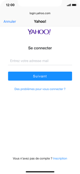 Apple iPhone X - iOS 12 - E-mail - Configuration manuelle (yahoo) - Étape 6