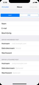 Apple iPhone X - E-mail - Account instellen (IMAP zonder SMTP-verificatie) - Stap 11