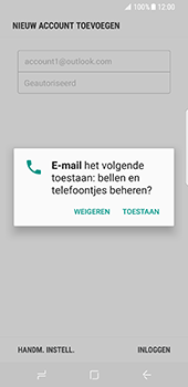 Samsung Galaxy S8 - E-mail - handmatig instellen (outlook) - Stap 10