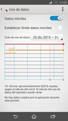 Sony Xperia Z3 - Internet - Ver uso de datos - Paso 5
