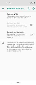 Motorola One Vision - Wi-Fi - Como usar seu aparelho como um roteador de rede wi-fi - Etapa 6