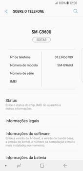 Samsung Galaxy S9 - Primeiros passos - Como encontrar o número de IMEI do seu aparelho - Etapa 5