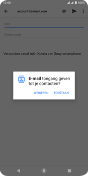 Sony xperia-xz3-dual-sim-model-h9436 - E-mail - Bericht met attachment versturen - Stap 5
