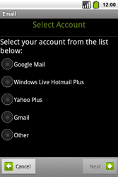 Alcatel OT-991 Smart - Email - Manual configuration - Step 7