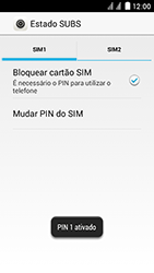 Huawei Ascend Y625 - Segurança - Como ativar o código PIN do cartão de telemóvel -  9