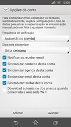 Sony Xperia E4G - Email - Como configurar seu celular para receber e enviar e-mails - Etapa 7