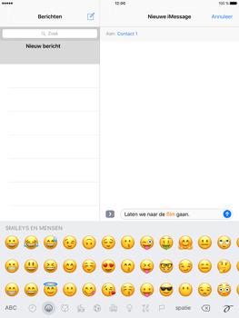 Apple iPad Pro 9.7 - iOS 10 - iOS features - Stuur een iMessage - Stap 13