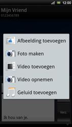 Sony Ericsson Xperia Ray - MMS - afbeeldingen verzenden - Stap 10