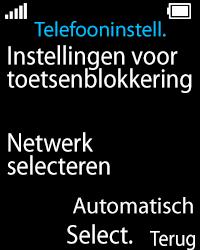 Nokia 108 - Netwerk - Gebruik in het buitenland - Stap 5
