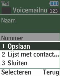 Samsung E1270 - Voicemail - Handmatig instellen - Stap 11
