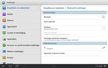 Samsung P7500 Galaxy Tab 10-1 - Bluetooth - koppelen met ander apparaat - Stap 10