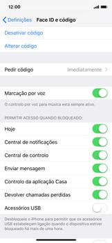 Apple iPhone X - iOS 12 - Segurança - Como ativar o código de bloqueio do ecrã -  8