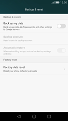 Huawei Ascend G7 - Device maintenance - How to do a factory reset - Step 6