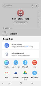 Samsung Galaxy J6 - Contactgegevens overzetten - delen via Bluetooth - Stap 8