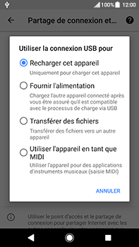 Sony Xperia XA2 Ultra - Internet et connexion - Utiliser le mode modem par USB - Étape 8