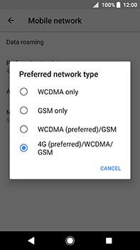 Sony Xperia XA2 Ultra - Network - Change networkmode - Step 8
