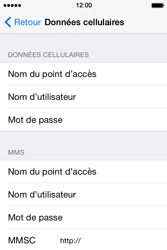 Apple iPhone 4s iOS 8 - MMS - Configuration manuelle - Étape 6