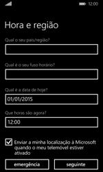 Microsoft Lumia 435 - Primeiros passos - Como ligar o telemóvel pela primeira vez -  14
