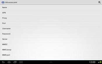 Samsung P5100 Galaxy Tab 2 10-1 - Mms - Manual configuration - Step 9