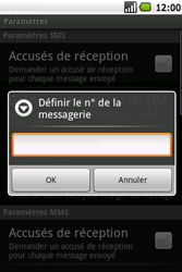 Samsung I5700 Galaxy Spica - SMS - Configuration manuelle - Étape 6
