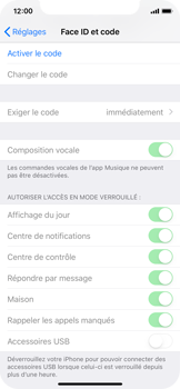 Apple iPhone XS - iOS 12 - Sécuriser votre mobile - Activer le code de verrouillage - Étape 4