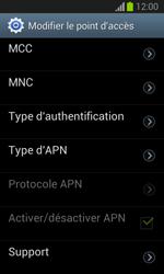 Samsung S7390 Galaxy Trend Lite - Internet - configuration manuelle - Étape 14