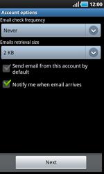 Samsung I9000 Galaxy S - E-mail - Manual configuration - Step 10