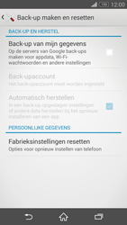 Sony Xperia Z3 Compact 4G (D5803) - Instellingen aanpassen - Fabrieksinstellingen terugzetten - Stap 5