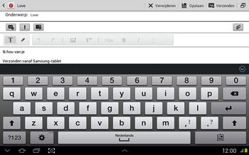 Samsung N8020 Galaxy Note 10-1 LTE - E-mail - Hoe te versturen - Stap 10