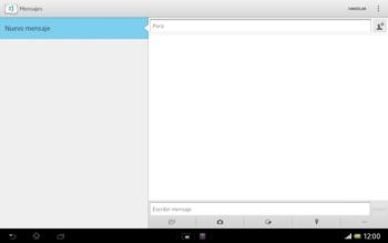 Sony Xperia Tablet Z - Mensajería - Escribir y enviar un mensaje multimedia - Paso 5