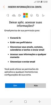 Samsung Galaxy S8 - Email - Como configurar seu celular para receber e enviar e-mails - Etapa 9