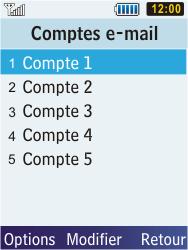 Samsung C3350 Xcover 2 - E-mail - Configuration manuelle - Étape 9