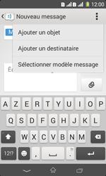 Sony Xpéria E1 Dual - Contact, Appels, SMS/MMS - Envoyer un MMS - Étape 11