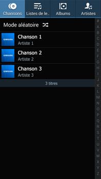 Samsung Galaxy Note 3 - Photos, vidéos, musique - Ecouter de la musique - Étape 4