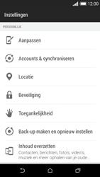 HTC Desire 610 - Instellingen aanpassen - Fabrieksinstellingen terugzetten - Stap 4