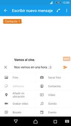 Sony Xperia M5 (E5603) - Mensajería - Escribir y enviar un mensaje multimedia - Paso 12